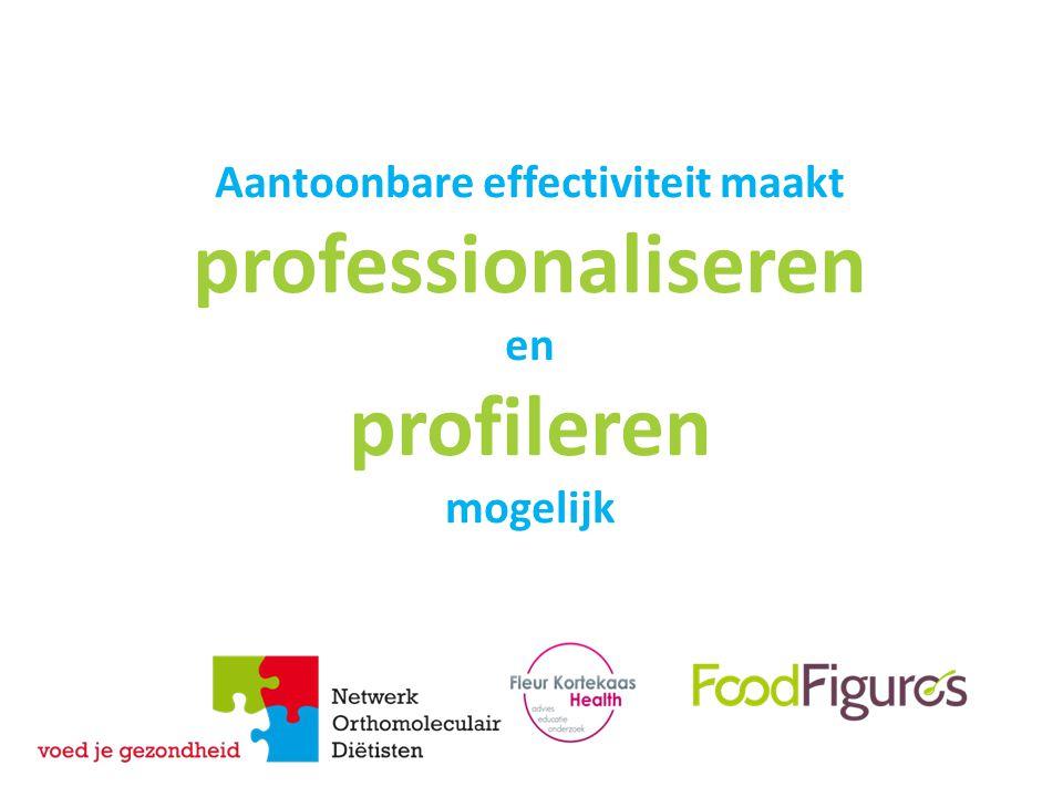 Aantoonbare effectiviteit maakt professionaliseren en profileren mogelijk