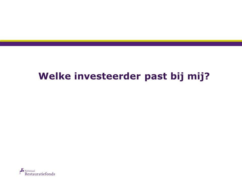 Welke investeerder past bij mij?