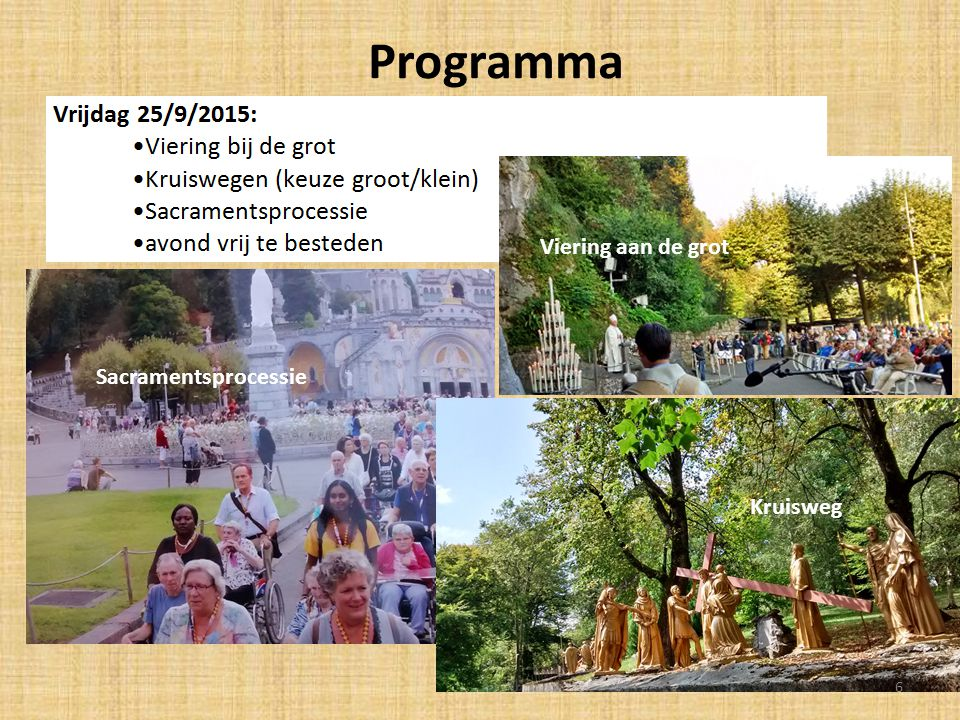 Programma Sacramentsprocessie Kruisweg Sacramentsprocessie Viering aan de grot 6