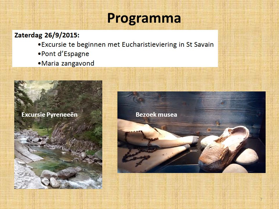 Programma Excursie PyreneeënBezoek musea 7