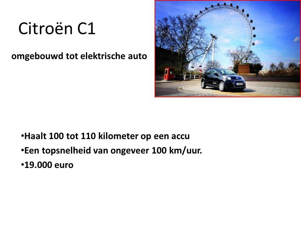 Citroën C1 Haalt 100 tot 110 kilometer op een accu Een topsnelheid van ongeveer 100 km/uur.