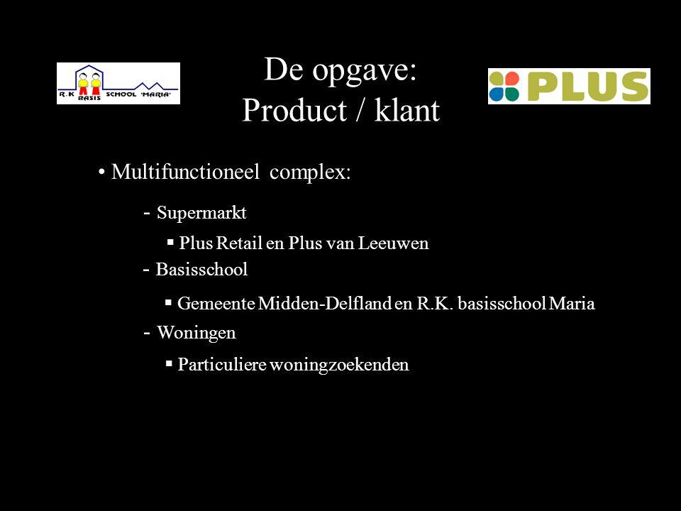 De opgave: Locatie Den Hoorn; dorp nabij Delft Masterplan aanwezig Aansluiting winkelstraat; grootschalige nieuwbouw