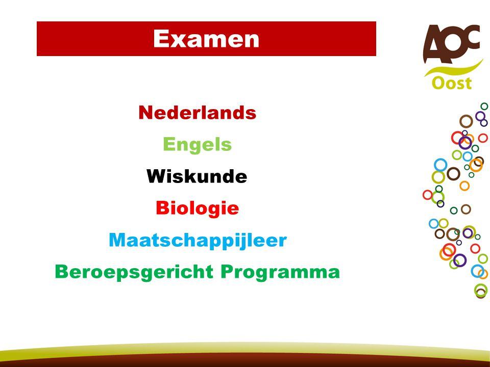 Nederlands Engels Wiskunde Biologie Maatschappijleer Beroepsgericht Programma Examen