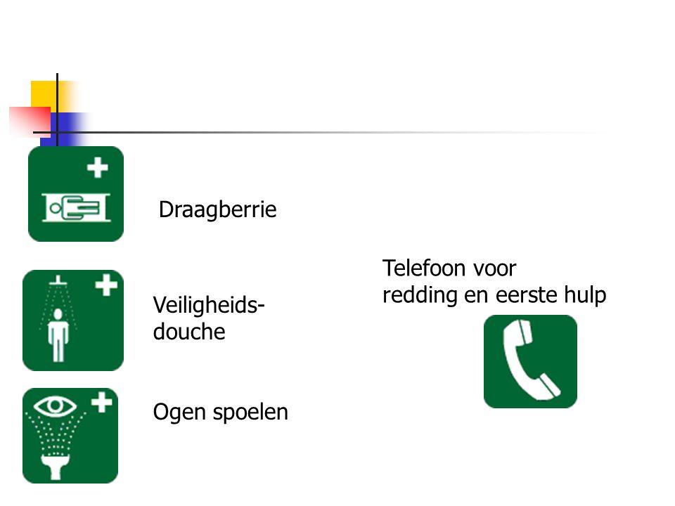 Veiligheids- douche Ogen spoelen Telefoon voor redding en eerste hulp Draagberrie