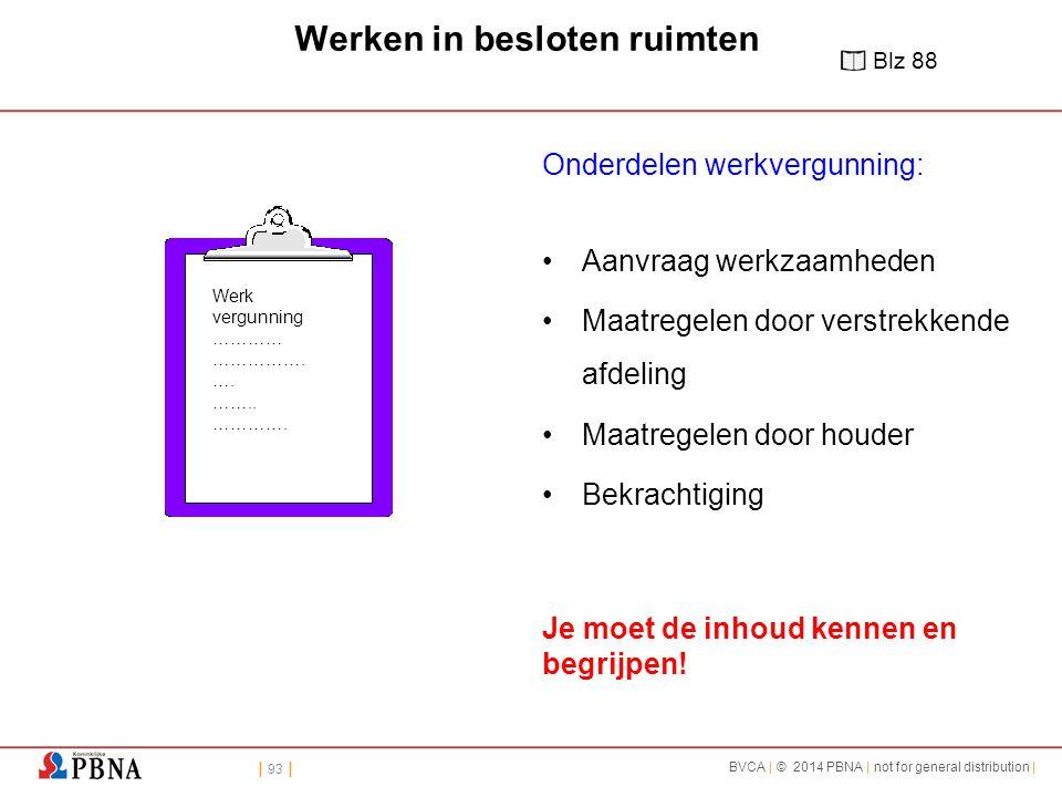 | 93 | BVCA | © 2014 PBNA | not for general distribution | Werk vergunning ………… …………….