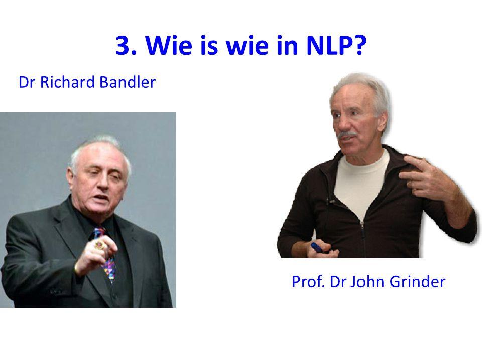 3. Wie is wie in NLP? Dr Richard Bandler Prof. Dr John Grinder