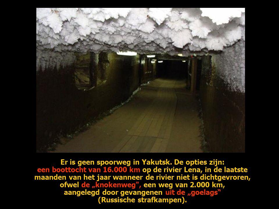 Er is geen spoorweg in Yakutsk.