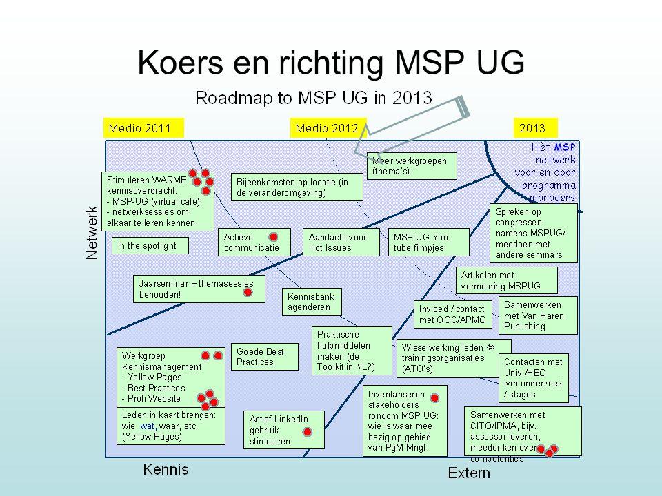 Koers en richting MSP UG
