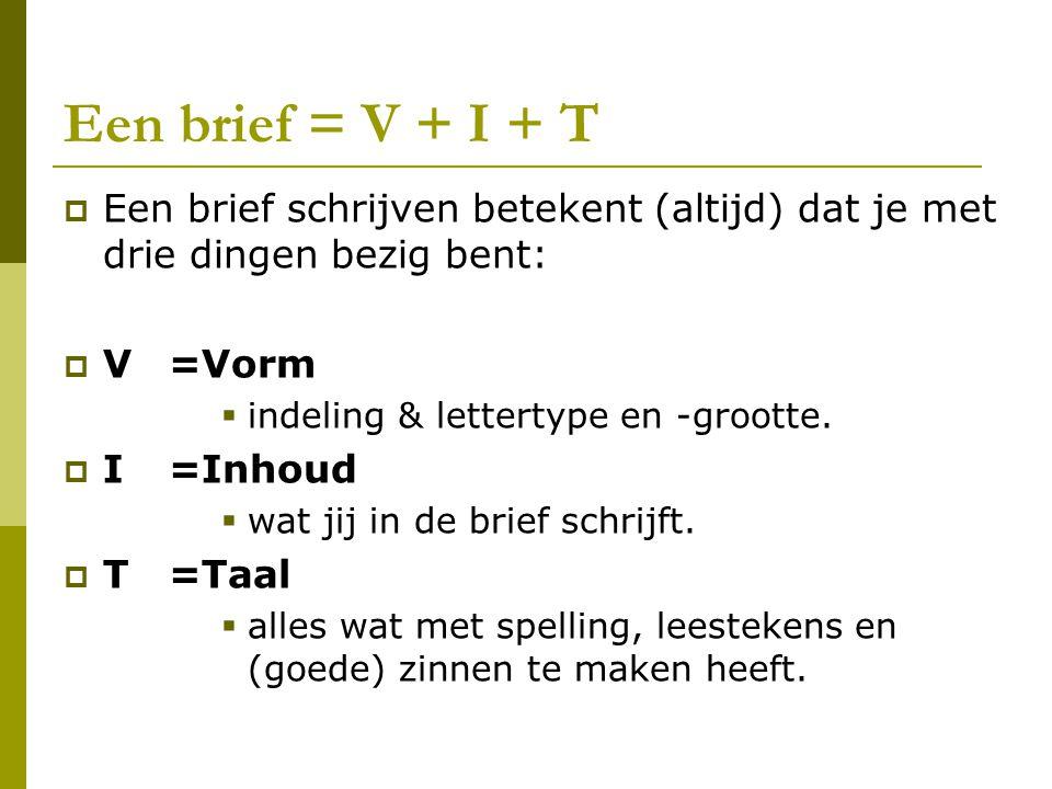 V + I + T = leesbaar of niet.