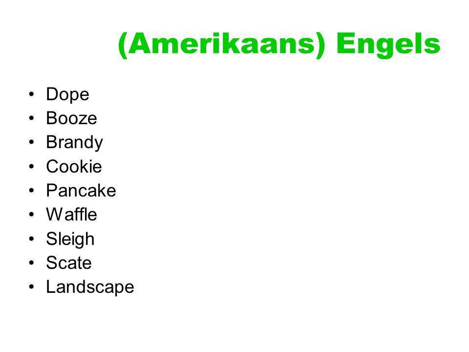 (Amerikaans) Engels Dope Booze Brandy Cookie Pancake Waffle Sleigh Scate Landscape