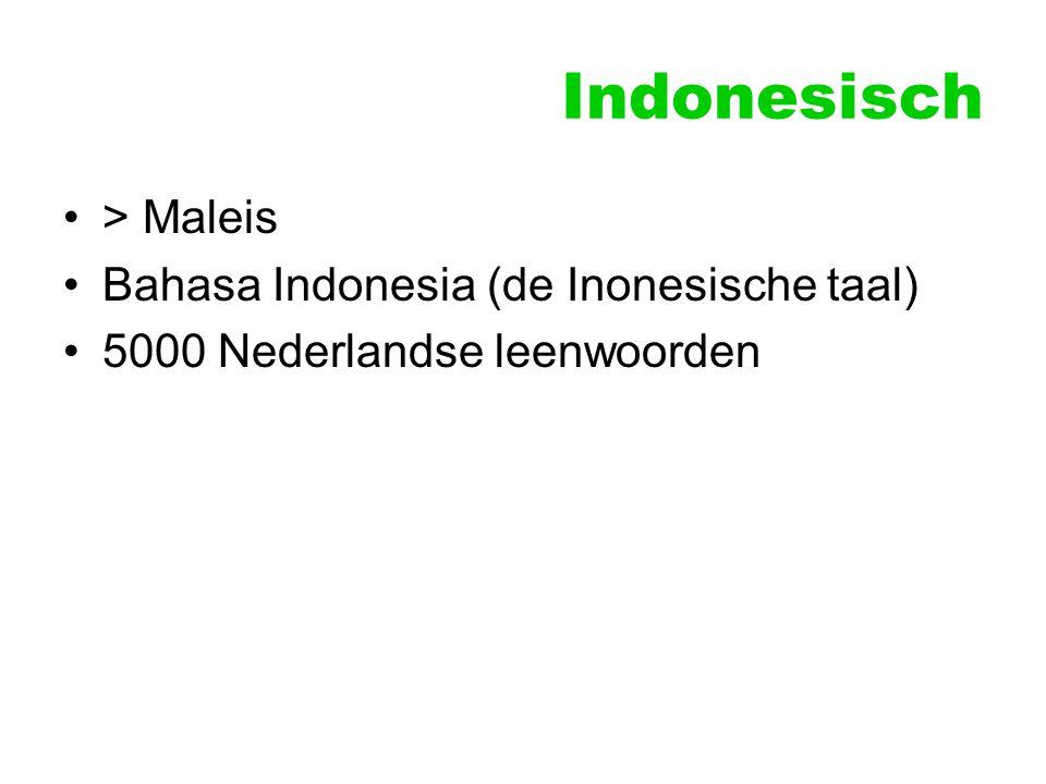 Indonesisch > Maleis Bahasa Indonesia (de Inonesische taal) 5000 Nederlandse leenwoorden