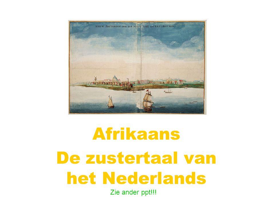 Afrikaans De zustertaal van het Nederlands Zie ander ppt!!!