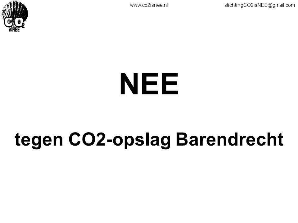 www.co2isnee.nlstichtingCO2isNEE@gmail.com NEE tegen CO2-opslag Barendrecht