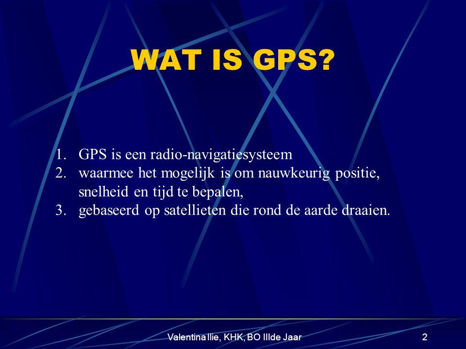 Valentina Ilie, KHK, BO IIIde Jaar2 WAT IS GPS.