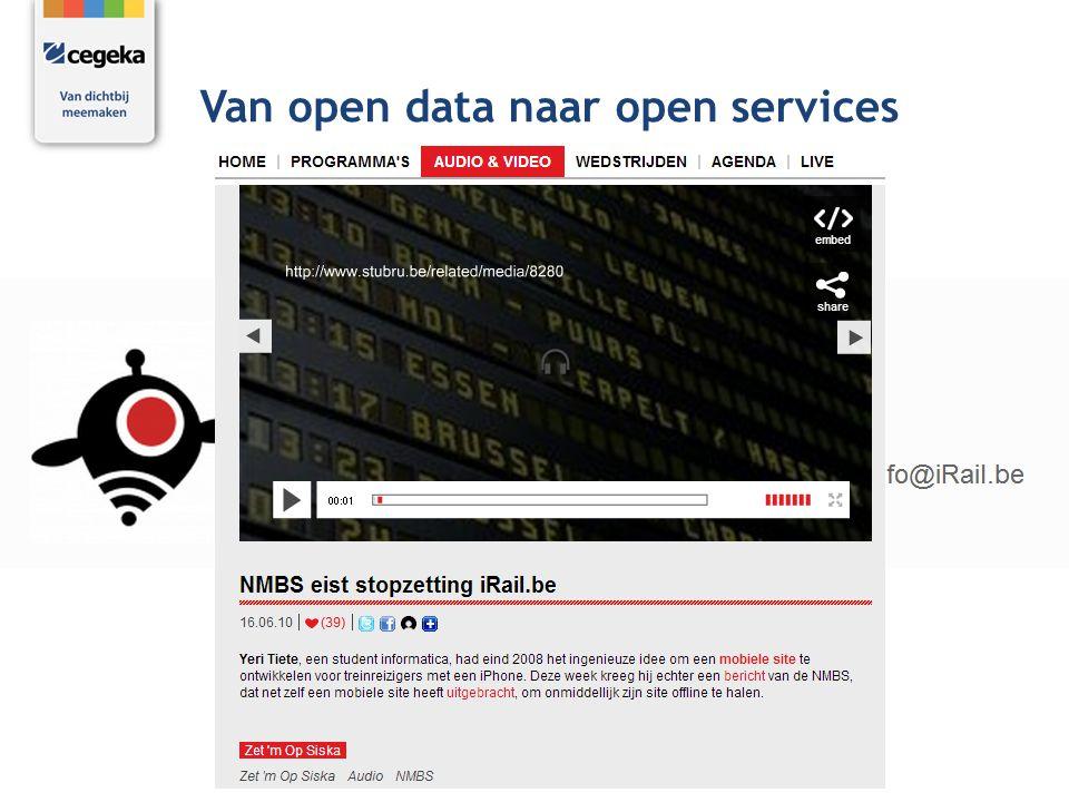 Van open data naar open services