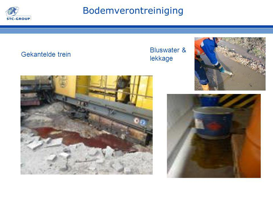 Bodemverontreiniging Gekantelde trein Bluswater & lekkage