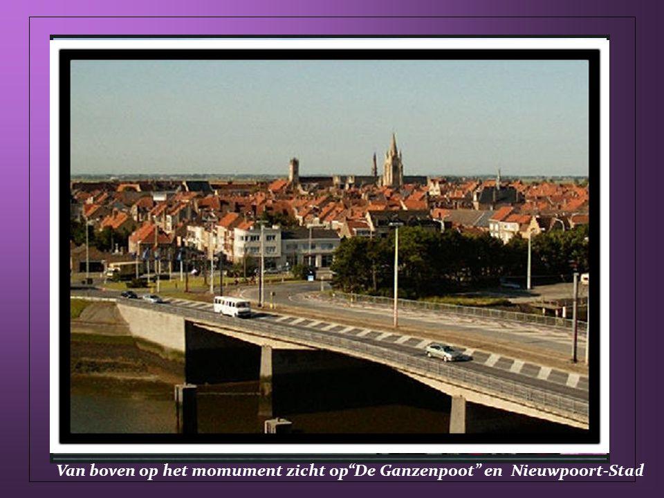 Albert I Monument mooi zicht op IJzervlakte en Nieuwpoort(stad, jachthaven en bad)