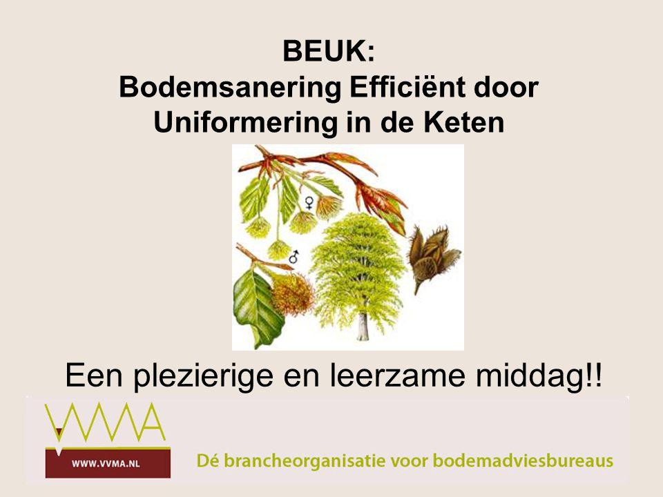 BEUK: Bodemsanering Efficiënt door Uniformering in de Keten Een plezierige en leerzame middag!!