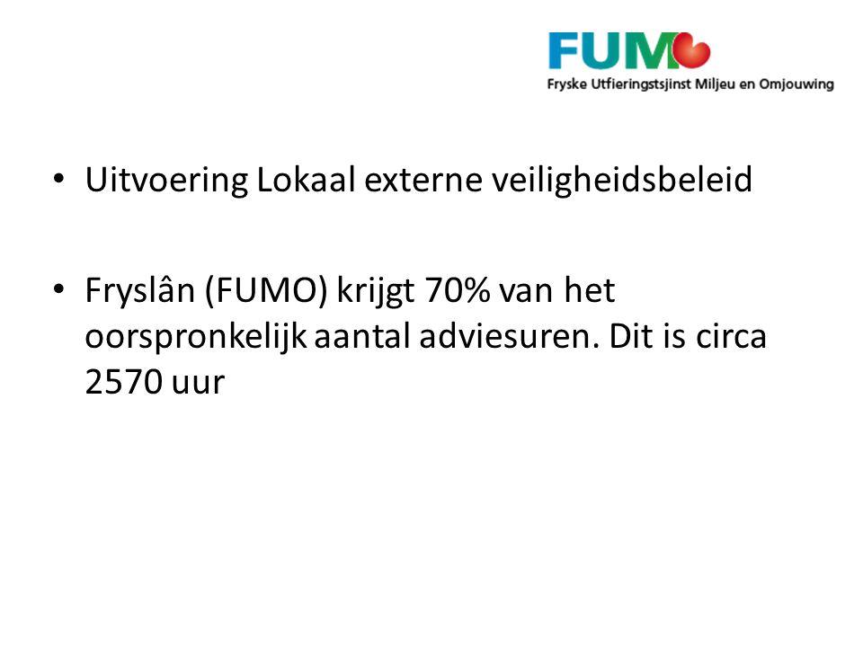 Uitvoering Lokaal externe veiligheidsbeleid Fryslân (FUMO) krijgt 70% van het oorspronkelijk aantal adviesuren.