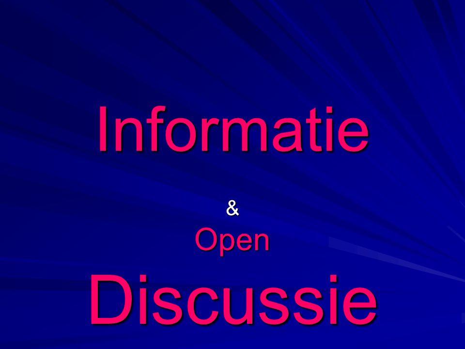Informatie &OpenDiscussie
