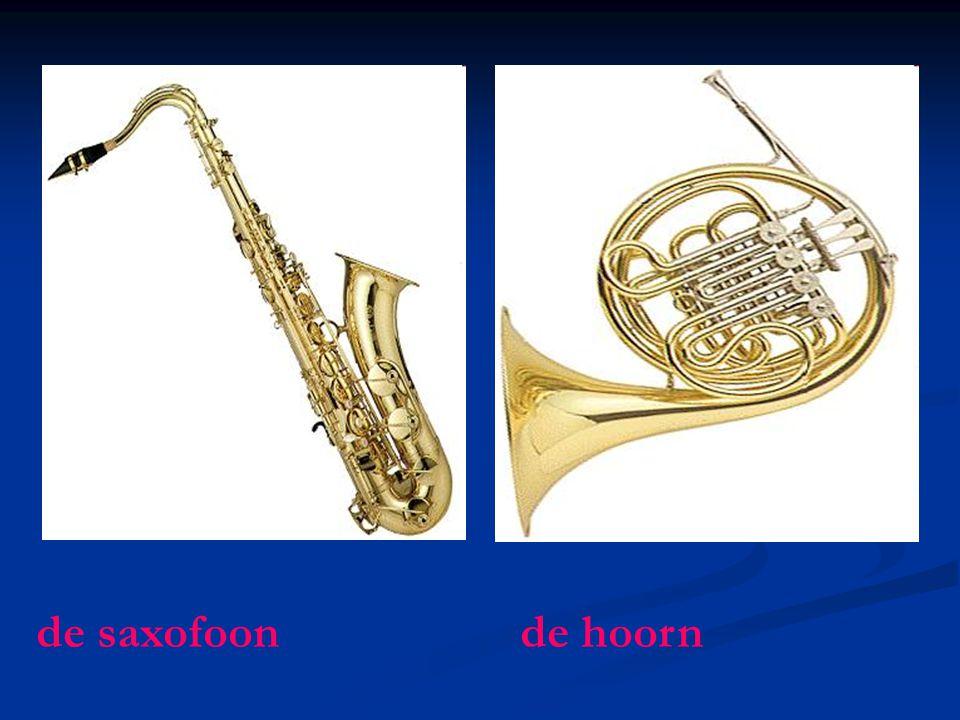 de saxofoon de hoorn
