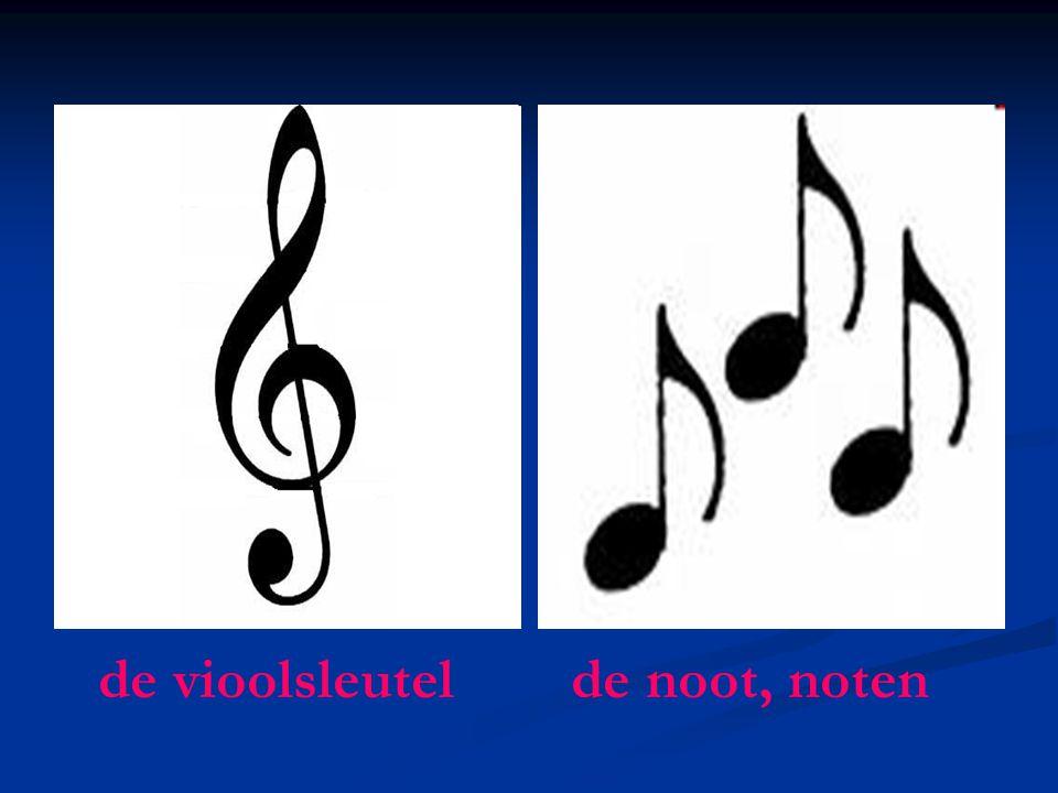 de vioolsleutel de noot, noten
