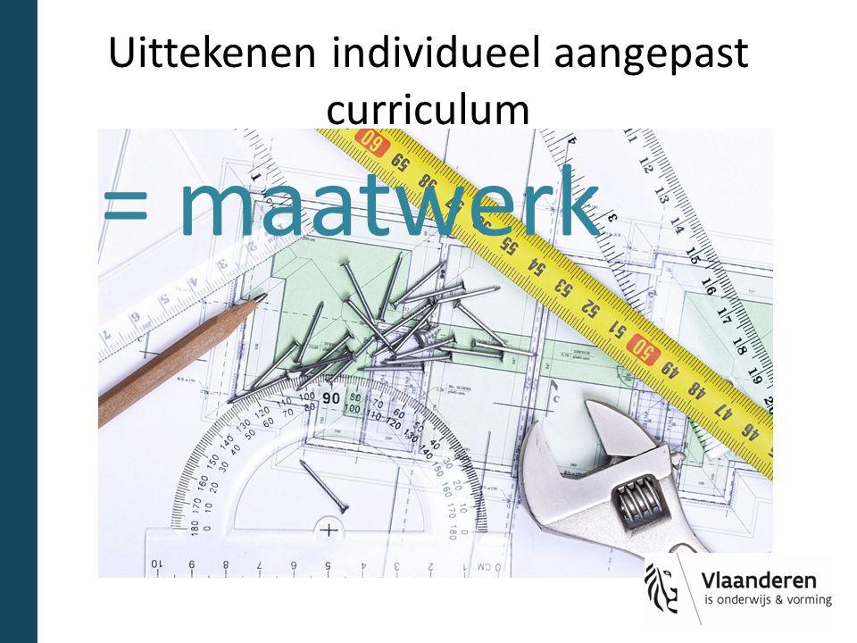 Uittekenen individueel aangepast curriculum = maatwerk
