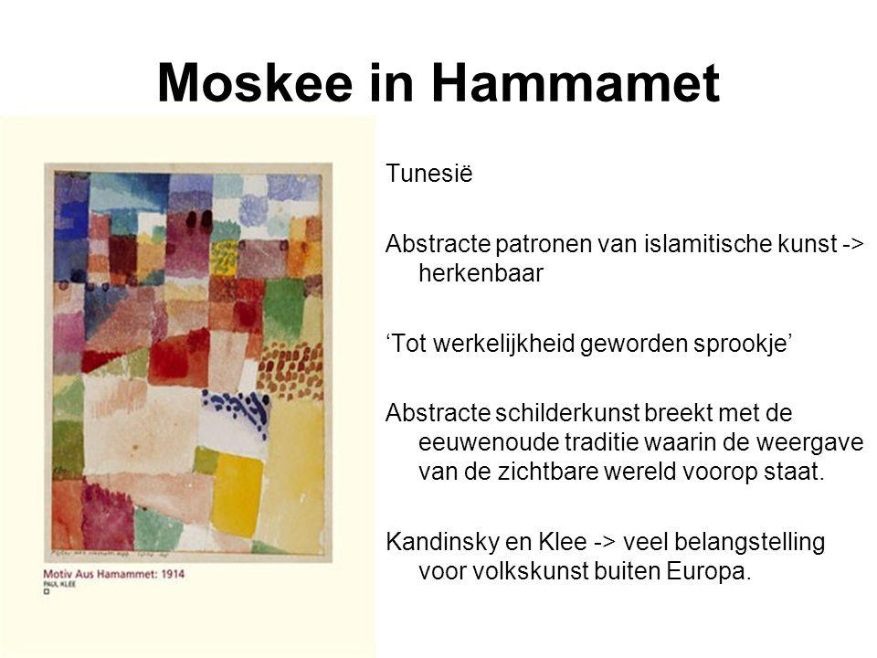 Moskee in Hammamet Tunesië Abstracte patronen van islamitische kunst -> herkenbaar 'Tot werkelijkheid geworden sprookje' Abstracte schilderkunst breek