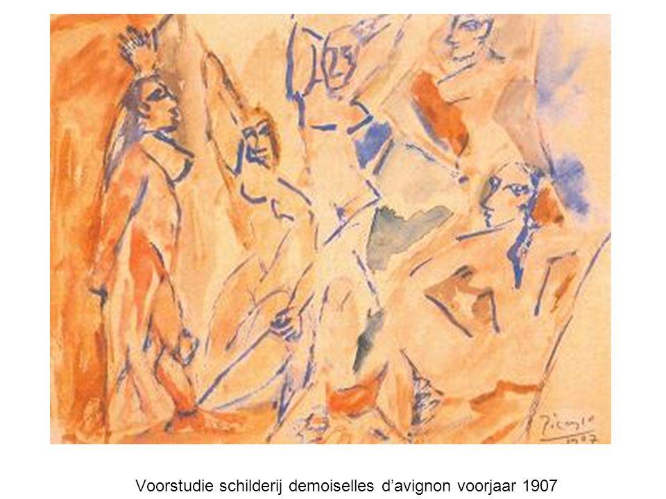 Voorstudie schilderij demoiselles d'avignon voorjaar 1907