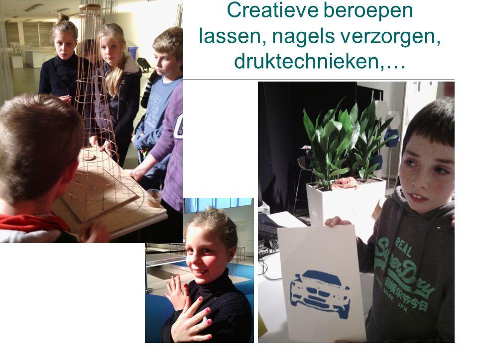 Creatieve beroepen lassen, nagels verzorgen, druktechnieken,…