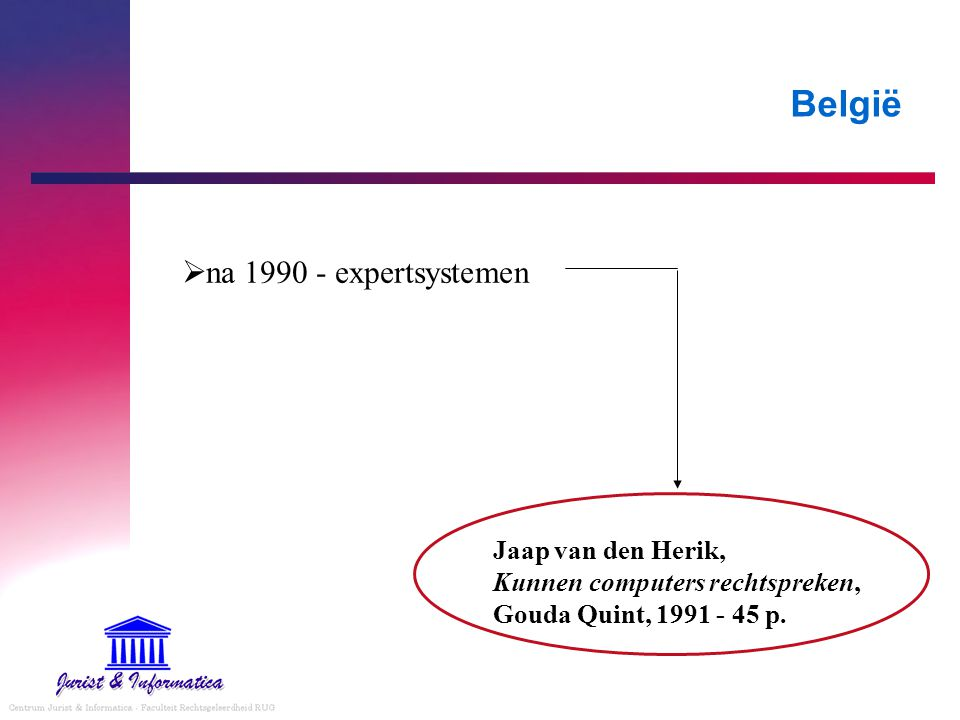 België  na 1990 - expertsystemen Jaap van den Herik, Kunnen computers rechtspreken, Gouda Quint, 1991 - 45 p.