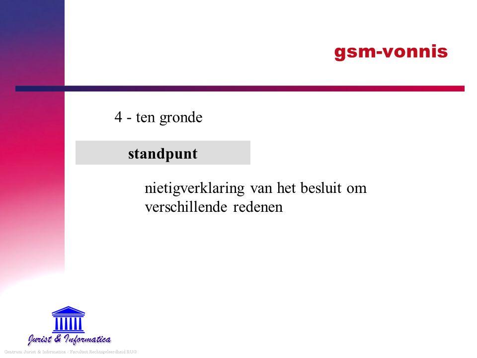 gsm-vonnis 4 - ten gronde standpunt nietigverklaring van het besluit om verschillende redenen