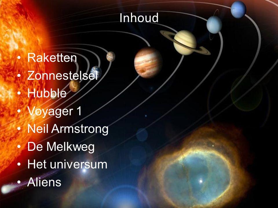Inhoud Raketten Zonnestelsel Hubble Voyager 1 Neil Armstrong De Melkweg Het universum Aliens