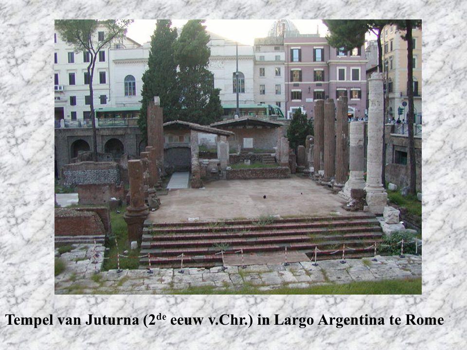Tempel van Juturna (2 de eeuw v.Chr.) in Largo Argentina te Rome