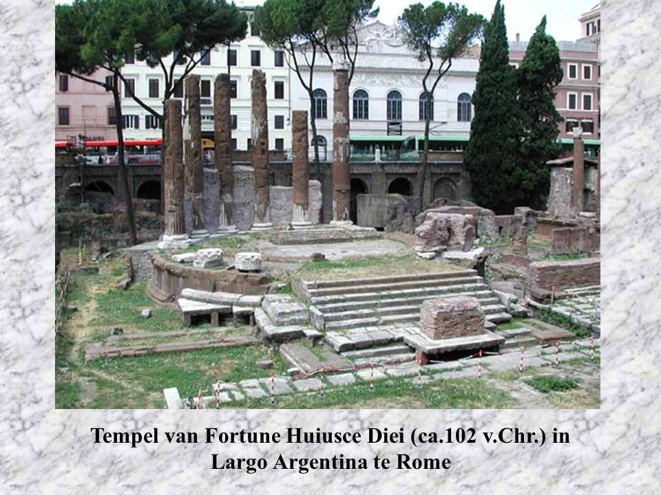 Tempel van Fortune Huiusce Diei (ca.102 v.Chr.) in Largo Argentina te Rome