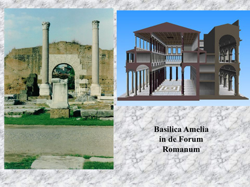 Basilica Amelia in de Forum Romanum