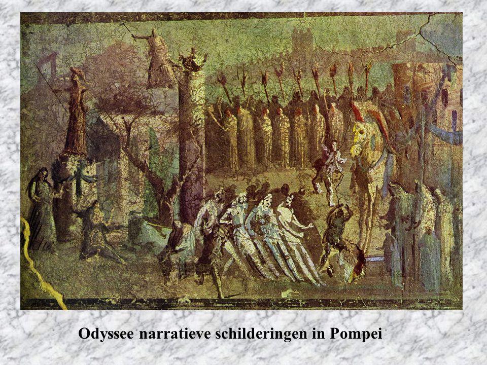 Odyssee narratieve schilderingen in Pompei