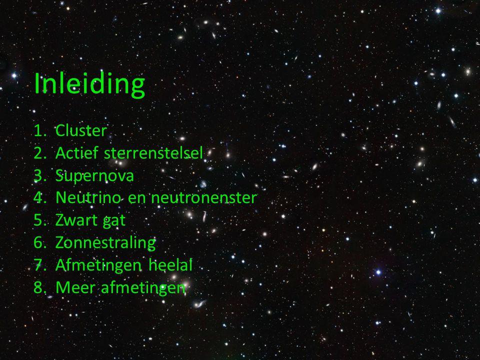 Cluster Een sterrenstelsel is een grote verzameling sterren.