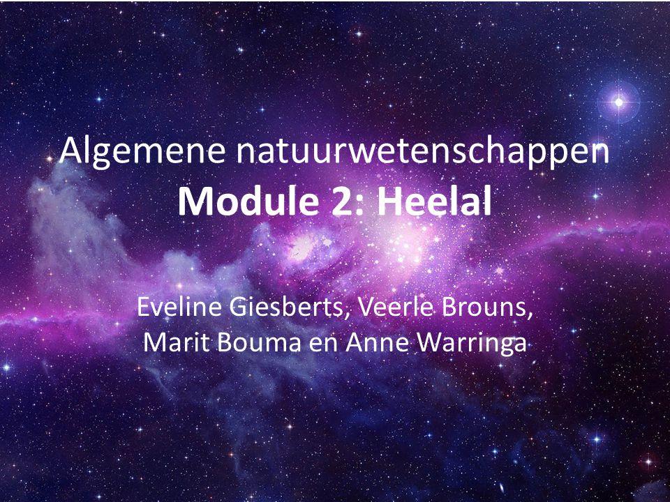 Algemene natuurwetenschappen Module 2: Heelal Eveline Giesberts, Veerle Brouns, Marit Bouma en Anne Warringa