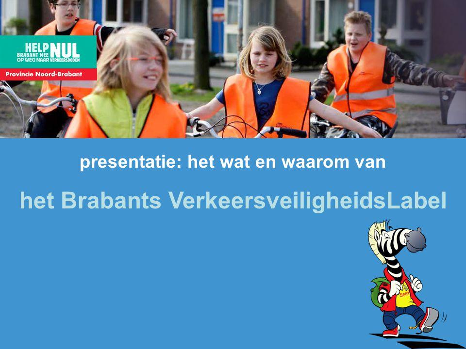 presentatie: het wat en waarom van het Brabants VerkeersveiligheidsLabel