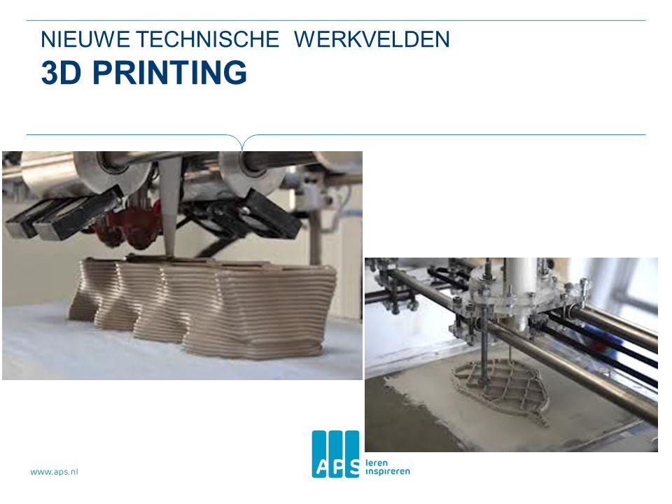 NIEUWE TECHNISCHE WERKVELDEN 3D PRINTING