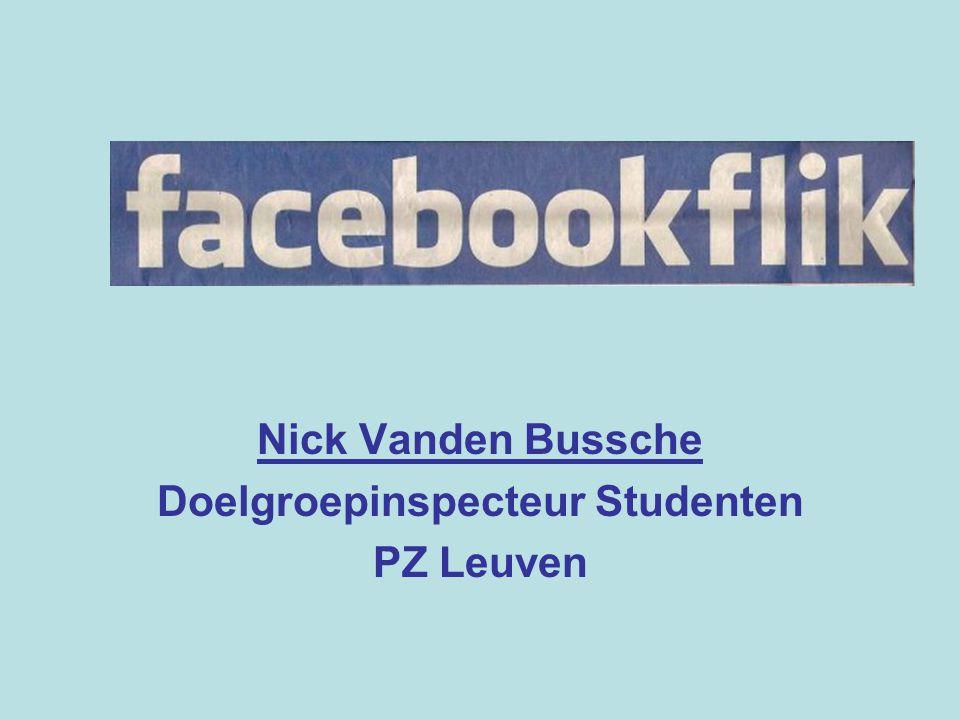 'Studentenflik' Ontstaan Taken Problemen Oplossing: sociale media Facebook (& Twitter)