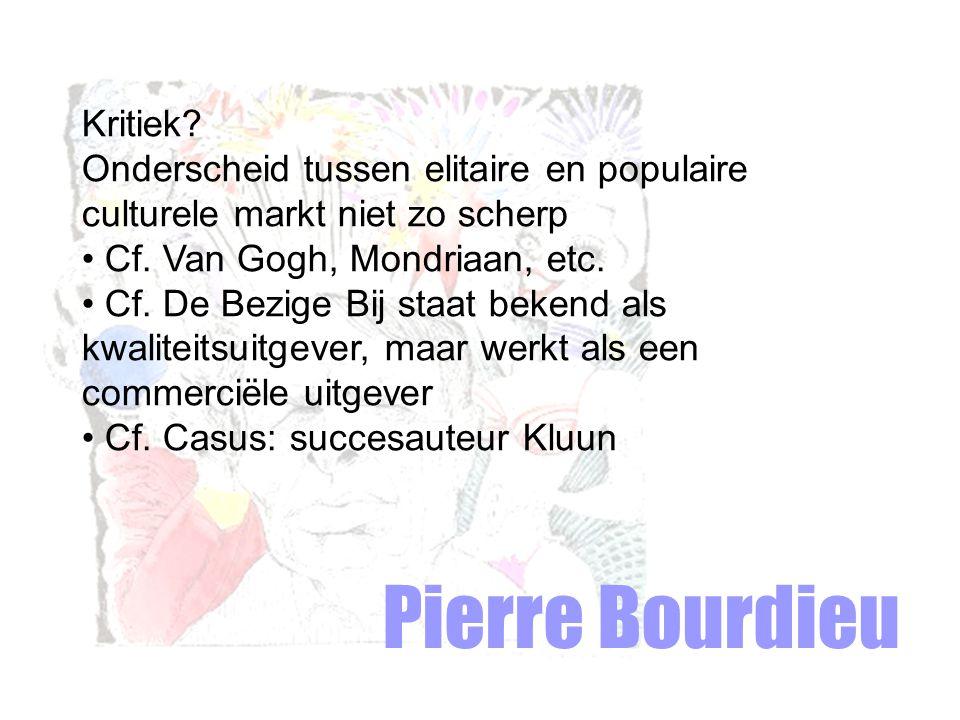 Pierre Bourdieu Kritiek.