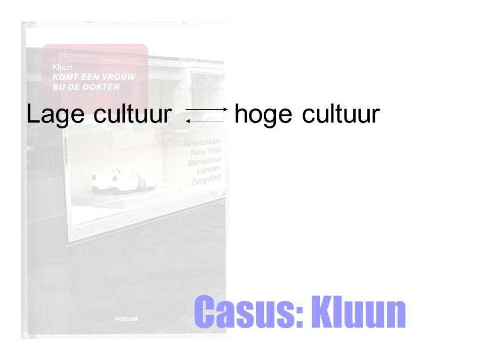 Casus: Kluun Lage cultuur hoge cultuur