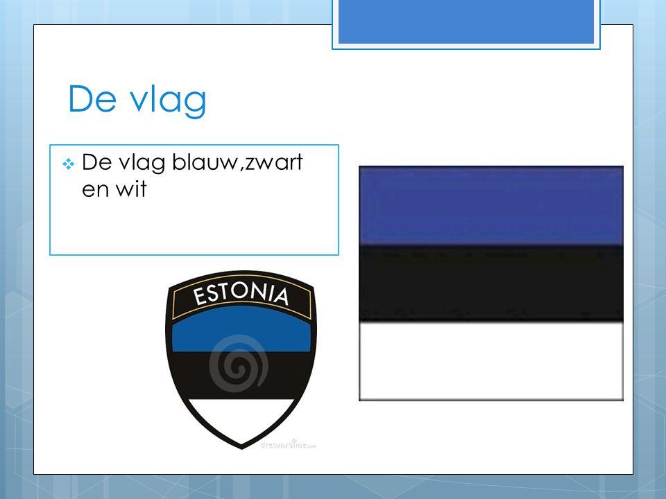 De vlag  De vlag blauw,zwart en wit
