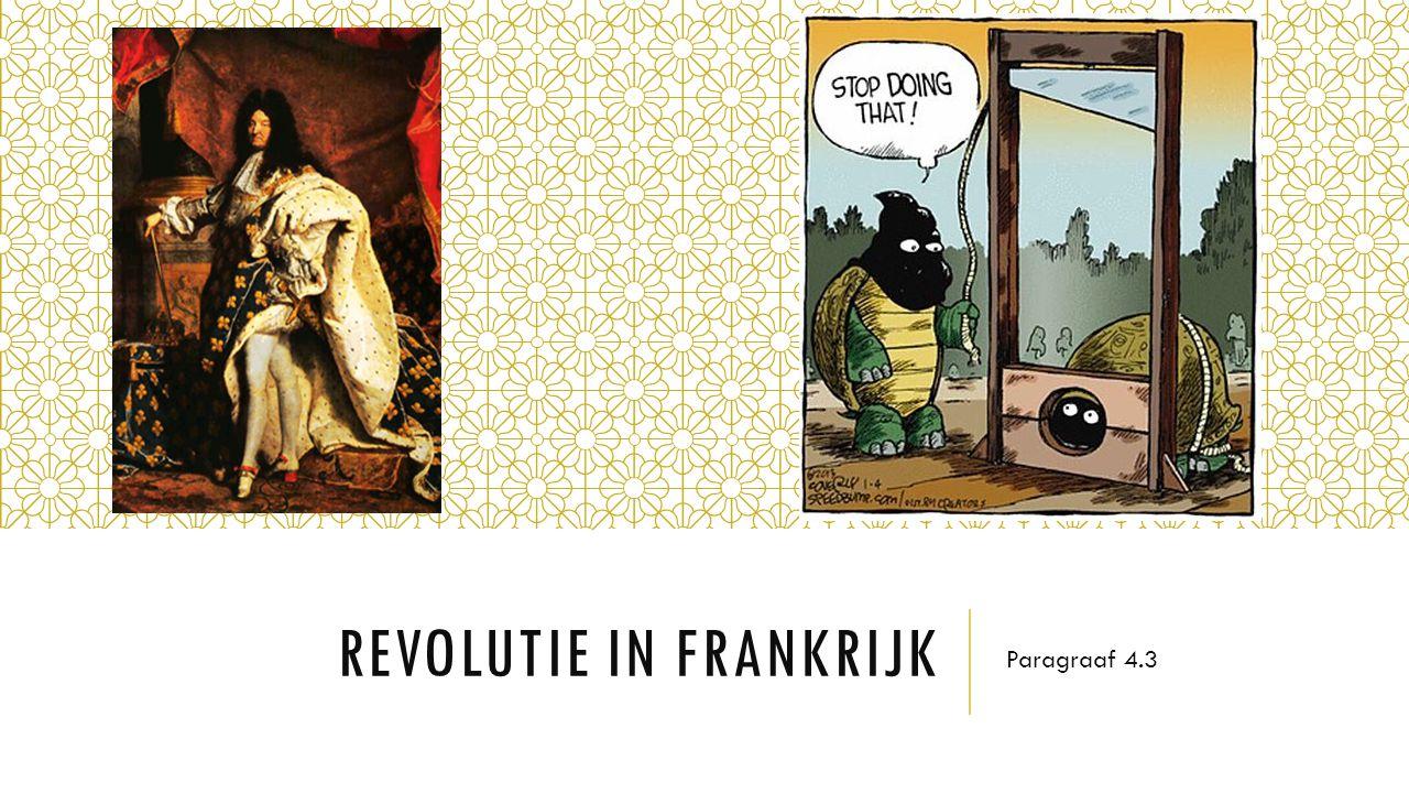 REVOLUTIE IN FRANKRIJK Paragraaf 4.3