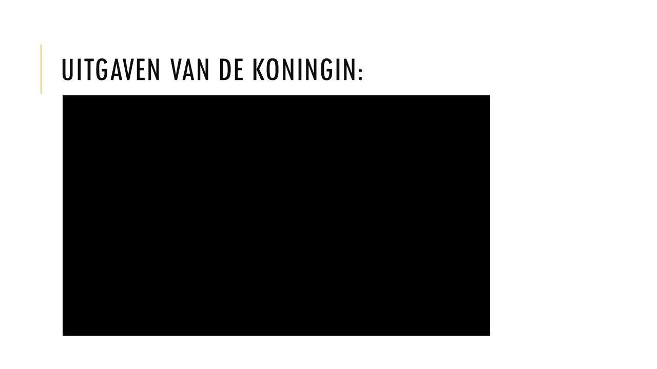 UITGAVEN VAN DE KONINGIN: