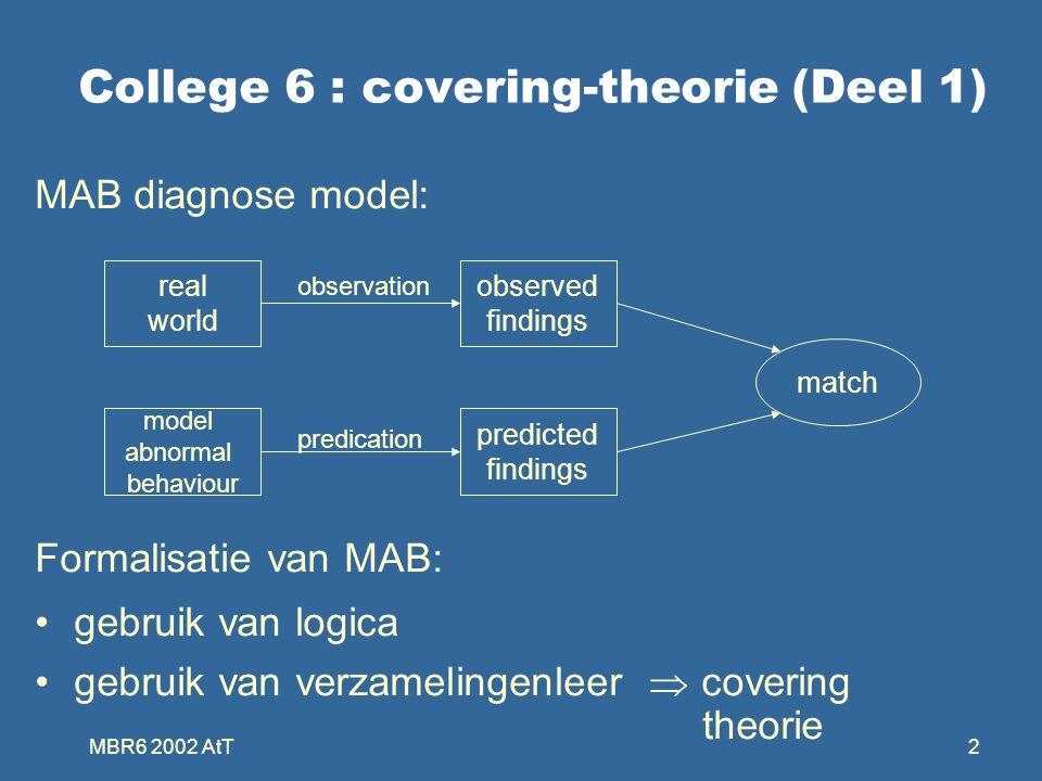 MBR6 2002 AtT53 Collapsed cover D 1 is een verklaring IFF D 1 is een cardinaliteit minimale collapsed cover van een irredundante cover D 1