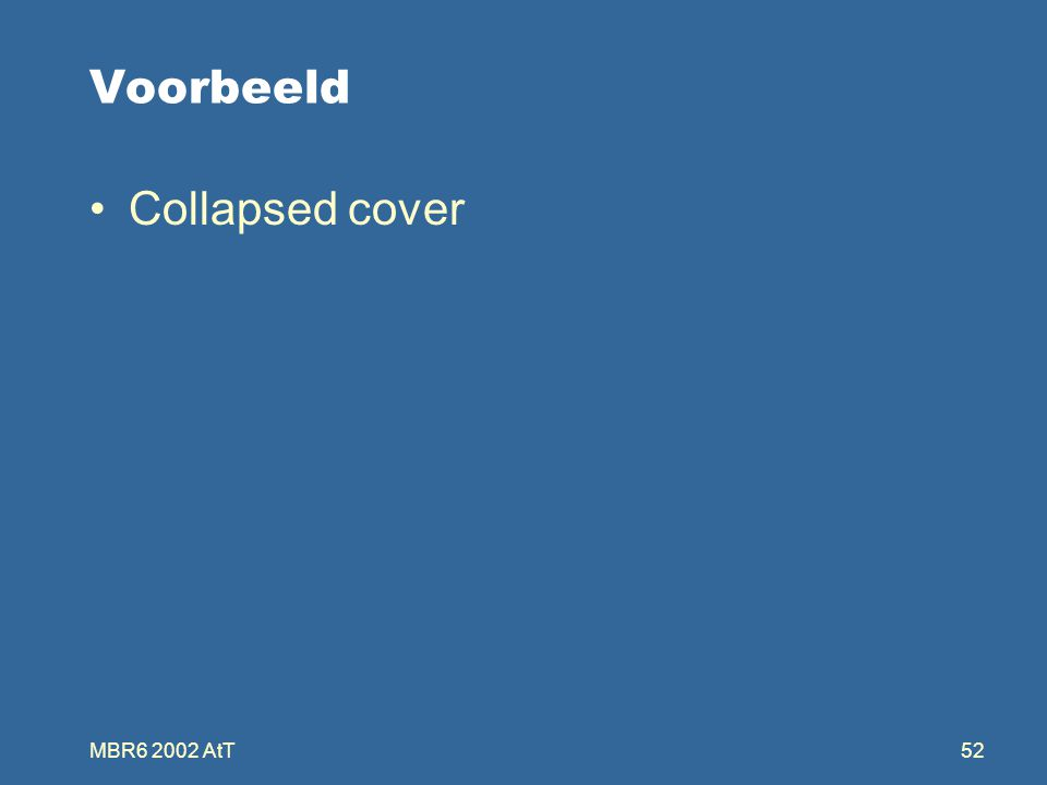 MBR6 2002 AtT52 Voorbeeld Collapsed cover
