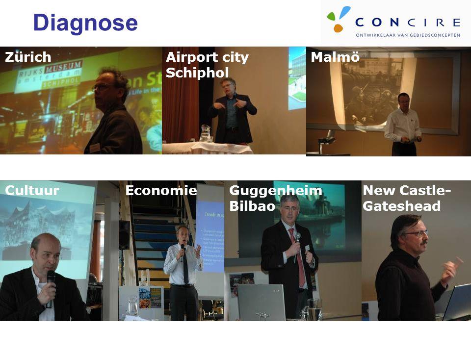 MalmöAirport city Schiphol Zürich Diagnose New Castle- Gateshead Guggenheim Bilbao EconomieCultuur